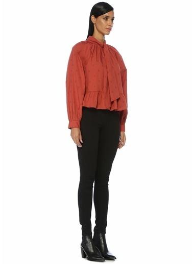 Johnson Ulla Johnson Queenie Kiremit Yakası Bağcıklı Reglan Kol Bluz 101427765 Fuşya